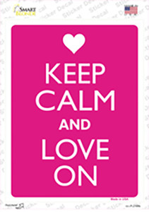 Keep Calm And Love On Wholesale Novelty Rectangle Sticker Decal