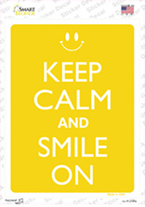 Keep Calm And Smile On Wholesale Novelty Rectangle Sticker Decal