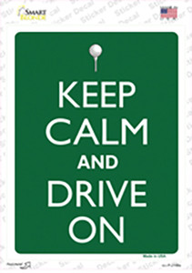 Keep Calm And Drive On Wholesale Novelty Rectangle Sticker Decal