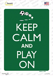 Keep Calm And Play On Wholesale Novelty Rectangle Sticker Decal