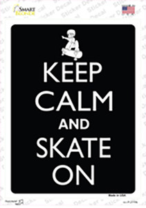 Keep Calm And Skate On Wholesale Novelty Rectangle Sticker Decal