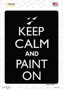 Keep Calm And Paint On Wholesale Novelty Rectangle Sticker Decal