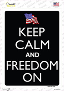 Keep Calm And Freedom On Wholesale Novelty Rectangle Sticker Decal