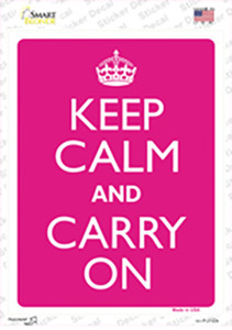 Keep Calm And Carry On Wholesale Novelty Rectangle Sticker Decal