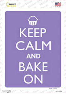 Keep Calm And Bake On Wholesale Novelty Rectangle Sticker Decal