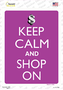 Keep Calm And Shop On Wholesale Novelty Rectangle Sticker Decal