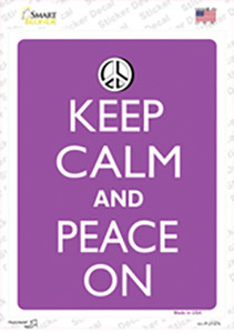 Keep Calm And Peace On Wholesale Novelty Rectangle Sticker Decal