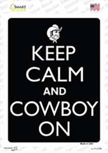 Keep Calm And Cowboy On Wholesale Novelty Rectangle Sticker Decal