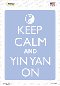 Keep Calm And Yin Yang Wholesale Novelty Rectangle Sticker Decal