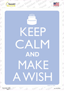 Keep Calm And Make A Wish Wholesale Novelty Rectangle Sticker Decal