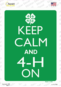 Keep Calm And 4-H On Wholesale Novelty Rectangle Sticker Decal