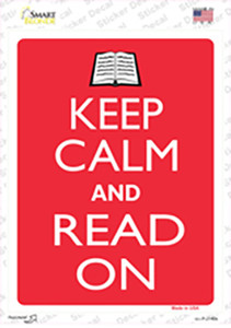 Keep Calm And Read On Wholesale Novelty Rectangle Sticker Decal