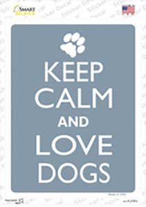 Keep Calm And Love Dogs Wholesale Novelty Rectangle Sticker Decal