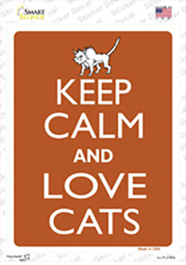 Keep Calm And Love Cats Wholesale Novelty Rectangle Sticker Decal