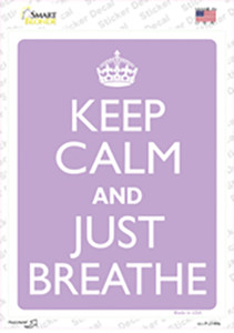 Keep Calm And Just Breathe Wholesale Novelty Rectangle Sticker Decal