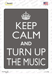 Keep Calm and Turn Up the Music Wholesale Novelty Rectangle Sticker Decal
