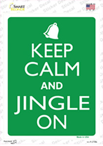 Keep Calm And Jingle On Wholesale Novelty Rectangle Sticker Decal
