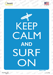 Keep Calm And Surf On Wholesale Novelty Rectangle Sticker Decal