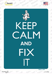 Keep Calm And Fix It Wholesale Novelty Rectangle Sticker Decal