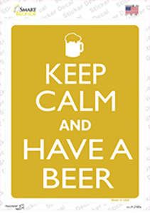 Keep Calm And Have A Beer Wholesale Novelty Rectangle Sticker Decal