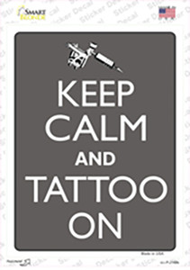 Keep Calm And Tattoo On Wholesale Novelty Rectangle Sticker Decal