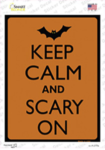 Keep Calm And Scary On Wholesale Novelty Rectangle Sticker Decal