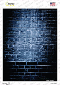 Blue Brick Wall Wholesale Novelty Rectangle Sticker Decal
