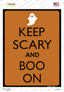 Keep Calm And Boo On Wholesale Novelty Rectangle Sticker Decal