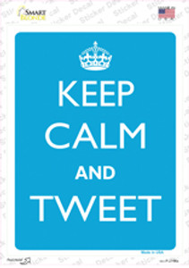 Keep Calm And Tweet Wholesale Novelty Rectangle Sticker Decal