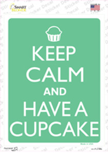 Keep Calm And Have a Cupcake Wholesale Novelty Rectangle Sticker Decal