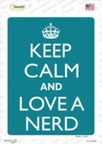 Keep Calm And Love A Nerd Wholesale Novelty Rectangle Sticker Decal
