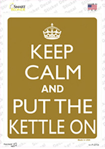 Keep Calm And Put The Kettle On Wholesale Novelty Rectangle Sticker Decal
