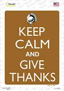 Keep Calm And Give Thanks Wholesale Novelty Rectangle Sticker Decal