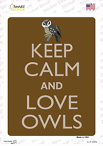 Keep Calm And Love Owls Wholesale Novelty Rectangle Sticker Decal