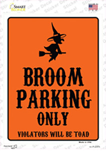 Broom Only Holiday Wholesale Novelty Rectangle Sticker Decal