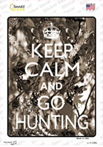 Keep Calm Go Hunting Wholesale Novelty Rectangle Sticker Decal