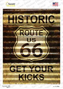 Historic Route 66 Wholesale Novelty Rectangle Sticker Decal