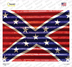Confederate Flag Wholesale Novelty Rectangle Sticker Decal