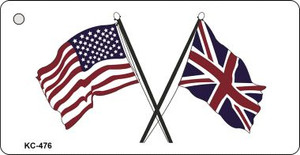 USA Britain Crossed Flags Wholesale Novelty Key Chain