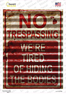 No Trespassing Wholesale Novelty Rectangle Sticker Decal