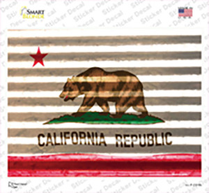 California Flag Wholesale Novelty Rectangle Sticker Decal