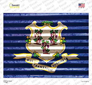 Connecticut Flag Wholesale Novelty Rectangle Sticker Decal