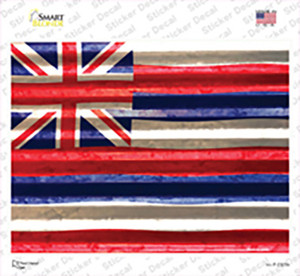 Hawaii Flag Wholesale Novelty Rectangle Sticker Decal