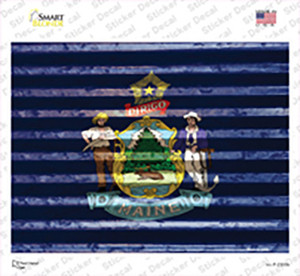 Maine Flag Wholesale Novelty Rectangle Sticker Decal