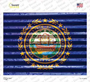 New Hampshire Flag Wholesale Novelty Rectangle Sticker Decal