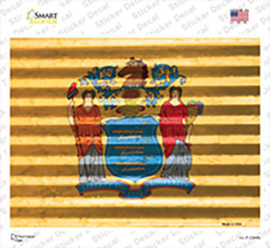New Jersey Flag Wholesale Novelty Rectangle Sticker Decal
