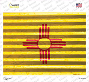 New Mexico Flag Wholesale Novelty Rectangle Sticker Decal