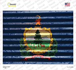 Vermont Flag Wholesale Novelty Rectangle Sticker Decal