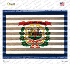 West Virginia Flag Wholesale Novelty Rectangle Sticker Decal