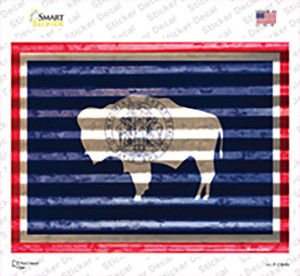 Wyoming Flag Wholesale Novelty Rectangle Sticker Decal
